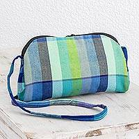 Cotton baguette, 'Countryside Stripes' (6 inch) - Colorful Cotton Baguette from Guatemala (6 in.)