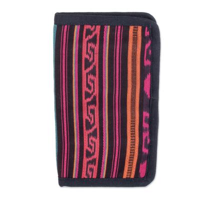 Striped Geometric Cotton Wallet from Guatemala
