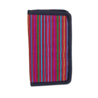 Colorful Striped Cotton Wallet from Guatemala