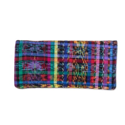 Colorful Patterned Recycled Cotton Wallet from Guatemala