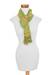 Cotton scarf, 'Citrus Paths' - Handmade 100% Cotton Scarf in Citrus Shades (image 2b) thumbail