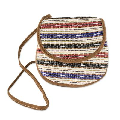 Hand Woven Cotton Striped Sling Bag
