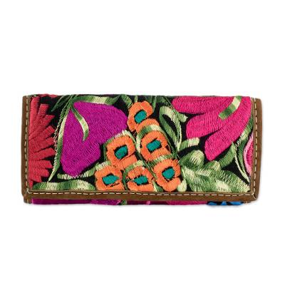 Hand Woven Floral Wallet Crafted in Guatemala