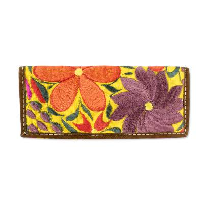 Bright Floral Handloomed Cotton Wallet