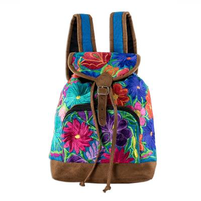 Hand Crafted Floral Cotton Backpack