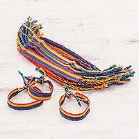 Cotton braided bracelets, 'Proud Heritage' (set of 30) - 30 Handwoven Cotton Bracelets from Guatemala