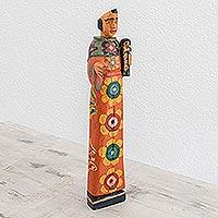 Wood statuette, 'Saint Anthony of Padua'