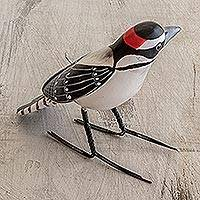 Ceramic figurine, 'Hairy Woodpecker'