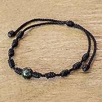 Jade pendant bracelet, 'Knotty'