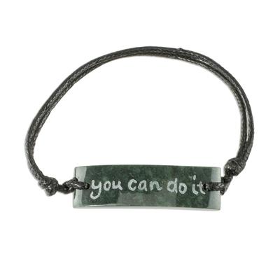 Motivational Unisex Jade Pendant Bracelet