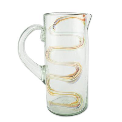 Eco-Friendly Blown Glass Pitcher