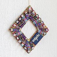 Cotton worry doll wreath, 'Inspire'