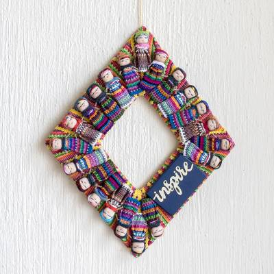 Cotton worry doll wreath, Inspire