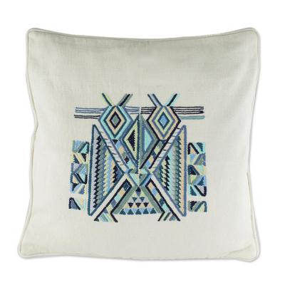 Hand Crafted Maya Bird Motif Cushion Cover