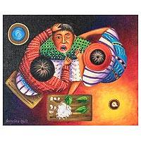 'Maya Dentist' - Bird's-Eye View Maya Dentist Painting
