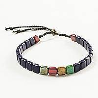 Beaded unity bracelet, 'Shared Values' - Handmade Multicolor Guatemalan Beaded Unity Bracelet