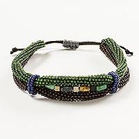 Beaded unity bracelet, 'Earth in Union'