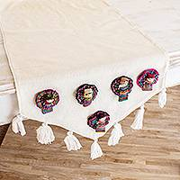 Cotton table runner, 'Ixmucané's Gift'