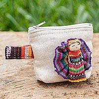 Cotton coin purse, 'Helpful Friend'