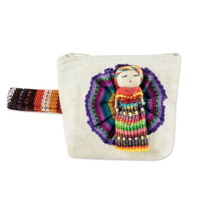 Handmade Cotton Coin Purse with Worry Doll