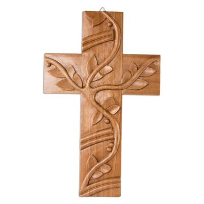 Artisan Crafted Cedar Wood Wall Cross