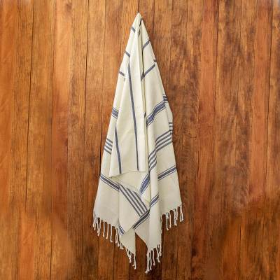 Cotton beach towel, Sweet Relaxation in Warm White