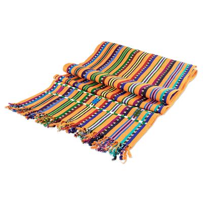 sunny stripes table runner
