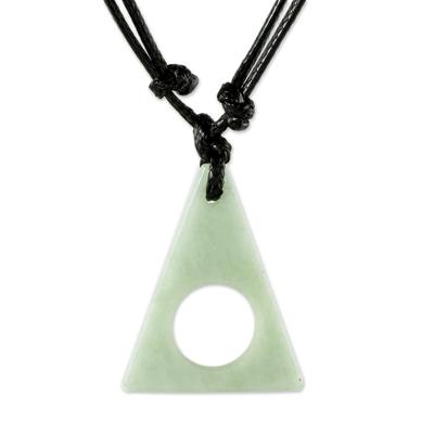 Guatemalan Light Green Jade Pendant Necklace