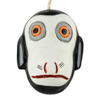Hand Crafted Monkey Mask from Guatemala