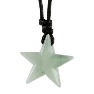 Light Green Jade Star Necklace