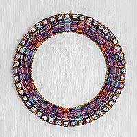 Fabric wreath, 'Heritage in the Round'