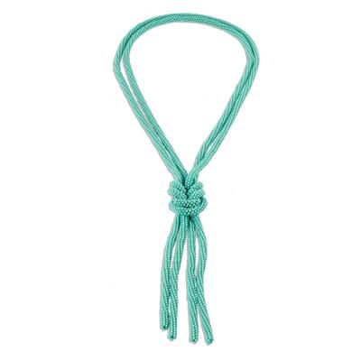 Turquoise Beaded Lariat Style Necklace