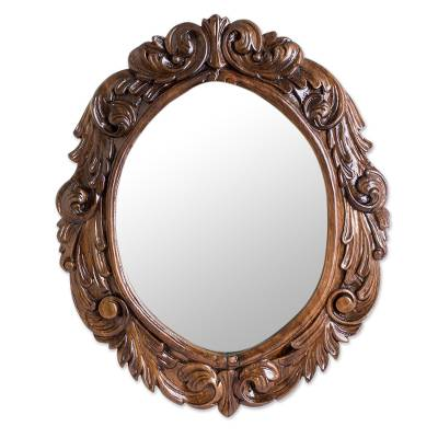 Guanacaste Wood Hand-carved Wall Mirror From Costa Rica