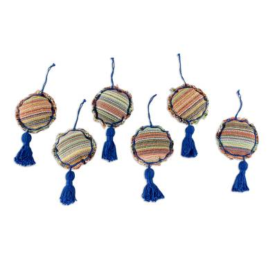 Central American Cotton Ornaments Set of 6