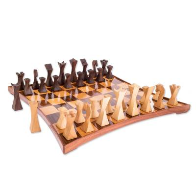 Modern Wood Chess Set