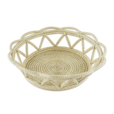 Hand Woven Palm Fiber Basket