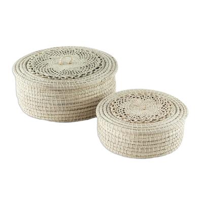 Multi-Purpose Natural Fiber Baskets (Pair)