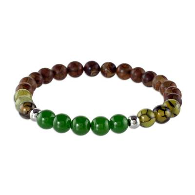 Assorted Agate Gemstone Bead Bracelet