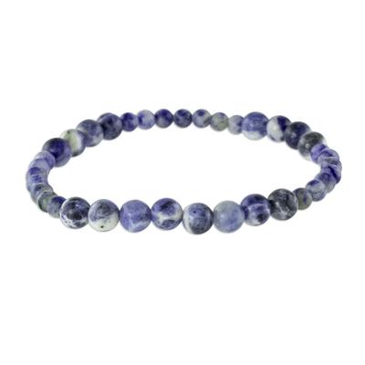 Natural Sodalite Beaded Bracelet