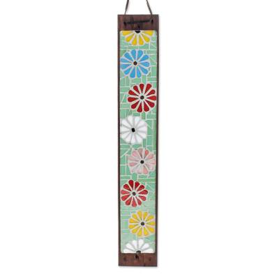 Wood and Glass Mosaic Incense Holder