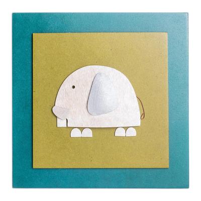 Artisan Crafted Wood Elephant Art