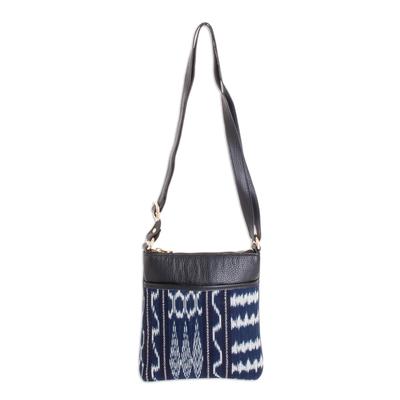 Blue Jaspe Cross Body Bag