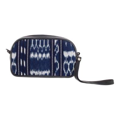 Jaspe Weave Cotton and Leather Wristlet