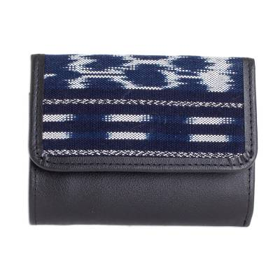Artisan Crafted Leather and Cotton Wallet