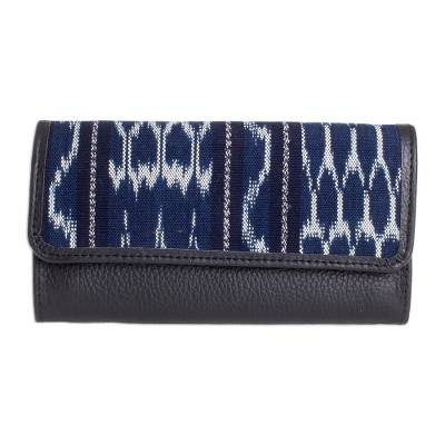 Jaspe Cotton and Leather Wallet