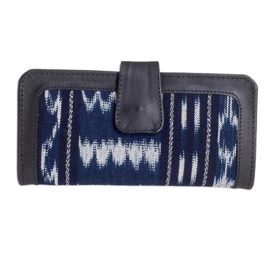 Black and Blue Jaspe Wallet