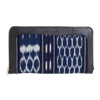 Cotton Jaspe and Leather Wallet