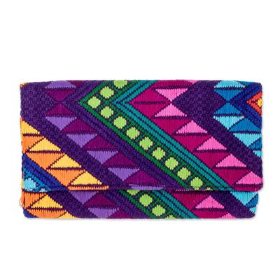 Handwoven Multicolor Cotton Clutch Handbag