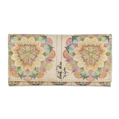 Multicolored Printed Leather Wallet