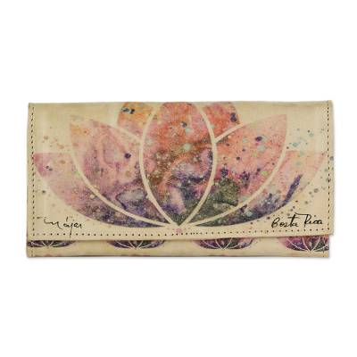 Artisan Crafted Floral Leather Wallet